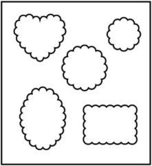 Creotime Snijmal afm 14x15 25 cm dikte 15 mm vorm met ronde randen 1stuk