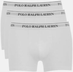 Witte Polo Ralph Lauren Men's 3 Pack Pouch Boxer Shorts - White - L - White