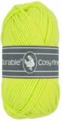Durable Cosy Fine - acryl en katoen garen - Neon yellow - neon Geel 1645