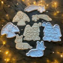 Happy bakers Nativity Uitstekers Set / Kerststal Fondant Stempels / Geboorte van Jezus Koekjes Vormen - 4 Stuks
