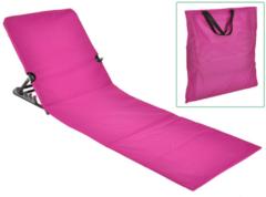 Paarse Haushalt HI Strandmat stoel opvouwbaar PVC roze