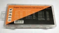 Dragon Tools Koper ring assortiment 220 delig