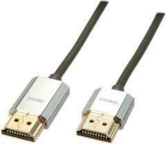 LINDY HDMI Aansluitkabel 3.00 m 41675 High Speed HDMI met ethernet, OFC-kabel, Rond, Ultra HD-HDMI met ethernet, Afgeschermd (dubbel), Extreem dun, Vergulde