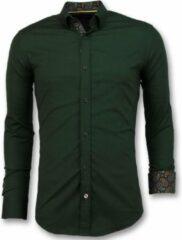 Tony Backer Business Overhemden Heren - Blanco Blouse - 3039 - Groen Casual overhemden heren Heren Overhemd Maat XL