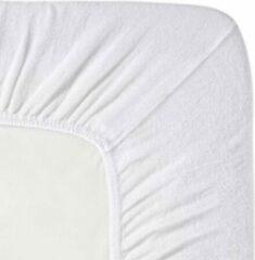 Fluweel Zachte Badstof Hoeslaken Lits-jumeaux Wit | 180x200/210/220 | Hoogwaardige Kwaliteit | Perfecte Pasvorm