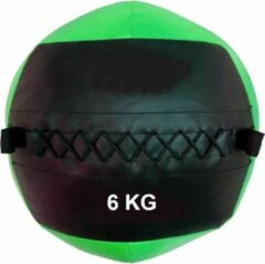Muscle Power ESam® - MP - Wall Ball - Squishy medicijnbal - Medicine Ball - Crossfit ball 6 kg - groen-zwart