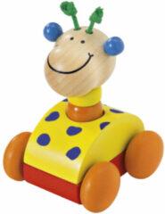 Selecta Spielzeug Selecta Speelgoedauto Zoolini Giraffe Junior 7 Cm Hout Geel