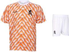 Kingdo EK 88 Shirt - Voetbalshirt - Tenue - Nederlands Elftal 1988 - Oranje - Voetbalkleding - Kids en Senioren - 128