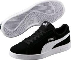Zilveren PUMA Smash v2 Sneakers Unisex - Puma Black-Puma White-Puma Silver