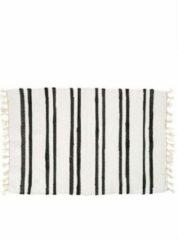 Yoshiko Home Yoshiko - Anhui - tapijt 60x90 - wit/zwart - katoen
