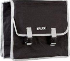 Falkx Dubbele Fietstas 33 X 33 X 13 Cm Zwart Grijs