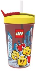 Rode Lego Iconic Drinkbeker - Incl. Rietje - Girl - 500 ml - Geel