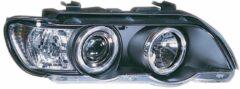 Universeel Set Koplampen BMW X5 E53 2000-2004 - Zwart - incl. Angel-Eyes