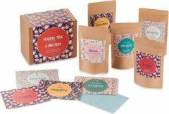 """ChaCult Thee Cadeau - Thee Cadeaupakket - Geschenkset - Thee – Vruchtenthee - Fruitthee """"Happy Tea Collections"""" - 5 soorten thee"""