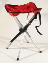 Repusel Campusit lichtgewicht camping / vis krukje - 4-poot - aluminium - Rood