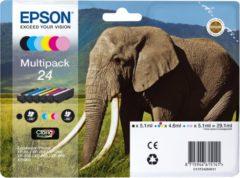 Zwarte Epson 24 - Inktcartridge / Zwart / Cyaan / Geel / Magenta / Licht Magenta / Licht Cyaan