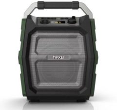Groene Nikkei SPEAKERBOXX300 Party Speaker 30 Watt met FM Radio, Bluetooth, Microfoon, Micro SD, Aux-in en USB ingang