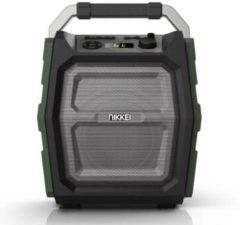 Groene Nikkei Nikkei SPEAKERBOXX300Speaker met FM radio, Bluetooth, Microfoon, Aux-in, SD, en usb ingang