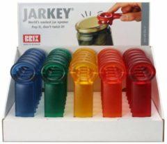 Blauwe JarKey pottenopener - frost Display 30 st - Brix