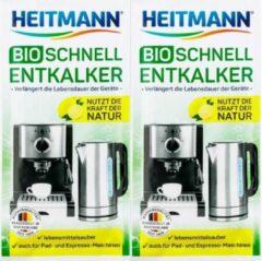 HEITMANN BIO-ontkalker- Biologische Ontkalker voor Waterkokers en Koffiezetapparaten- 2 x 25g
