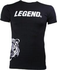 Legend Sports Logo T-shirt Zwart Maat Xs