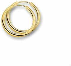 Gele Quickjewels huiscollectie Huiscollectie 4001289 Gouden creolen 25 mm rond