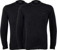 Zwarte Campri Basic Thermo Longsleeve (2-pack) Sportshirt performance - Maat XXL - Mannen - zwart