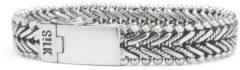 SILK Jewellery - Zilveren Armband - Classic Chevron - 234.19 - Maat 19