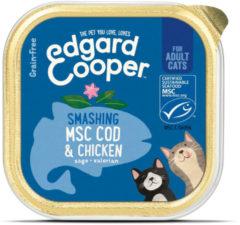 Edgard & Cooper MSC-kabeljauw & kip Kuipje - Voor volwassen katten - Kattenvoer - 85g