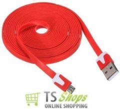 Qatrixx Micro USB Kabel Datacable 3 meter Universeel Red Rood