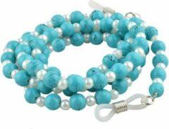 Fako Bijoux® - Brillenkoord - Natuursteen - Turquoise - 6.5mm - 70cm