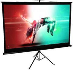 Mobile HDTV Stativ Beamer Projektor Leinwand Ständer 4:3 / 16:9 Rolloleinwand tragbar VCM 178 x 178 cm: 252 cm / 99 Zoll