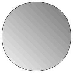 Zilveren Plieger Fitline 3mm ronde spiegel O 35cm zilver 4350043