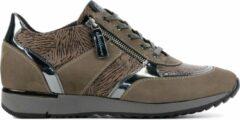 Taupe DL Sport Vrouwen Leren Sneakers - 4819 nub - 37