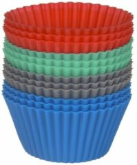 Xenos Cupcakevormpjes siliconen - set van 12