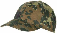 MFH US Army cap met klep vlekcamouflage in grootte verstelbaar
