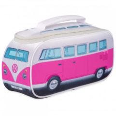 VW Collection - VW T1 Bus Brotzeittasche - Voedselbewaring maat 30 x 15 x 12 cm, grijs/roze