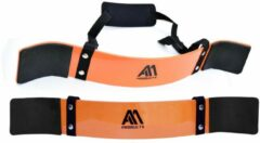 Oranje AA Fitness Gear Arm Blaster - Biceps Blaster - Arm Isolator - Premium Quaity - Orange