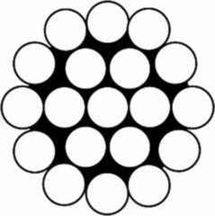 Dulimex Staaldraadkabel gevlochten vz 1x19 1.2mm