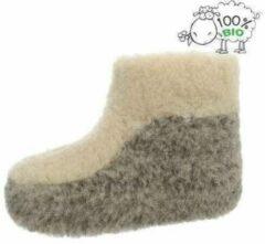 Chimb Pantoffels 100% lamswol maat 39 | Grijs-Wit | Sloffen | Heerlijk warm!