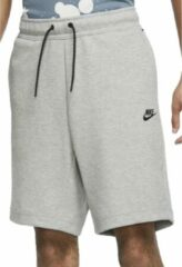 Licht-grijze Nike Sportswear Tech Fleece Heren Short - Maat L