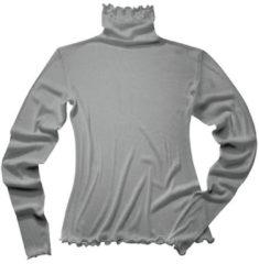Enna Shirt met lange mouwen uit biologische zijde, platinum 40/42