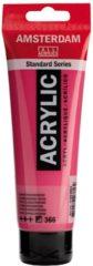 Roze Royal Talens Amsterdam Standard acrylverf tube 120ml - Quinacridone rose - halfdekkend