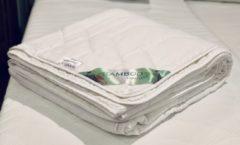 Witte SleepNext Luxe Zomerdekbed - 100% Bamboo & Katoen Satijnen tijk - 240x220cm
