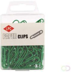 Papierklem LPC Paperclip LPC 28mm 100stuks groen