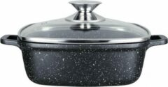 Zwarte Kamberg - Vierkante gegoten aluminium braadpan 24 x 24 cm