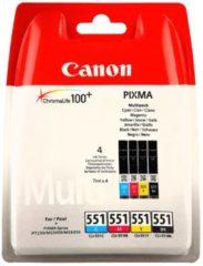 Canon CLI-551 C/M/Y/BK Multipack - 4er-Pack - Schwarz, Gelb, Cyan, Magenta 6509B009