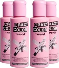 Zilveren Crazy Color Semi Permanent Hair Color Cream 100 ml