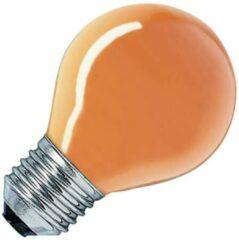 Huismerk gloeilamp Kogellamp oranje 15W grote fitting grote fitting E27