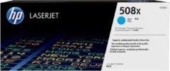 Blauwe HP 508X - CF361X - Tonercartridge / Cyaan / Hoge Capaciteit